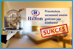 Koniec klatek wHilton Hotels